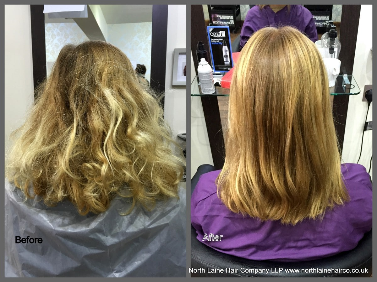 Blonde colour correction