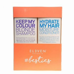Eleven Australia hydrate my hair conditioner 300ml keep my colour blonde shampoo 300ml bestie duo