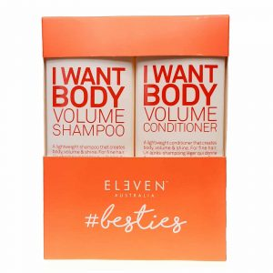 Eleven Australia I want body volume shampoo 300ml conditioner 300ml bestie duo