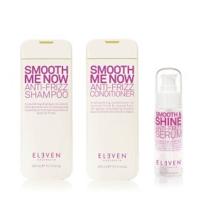Eleven Australia Smooth Me now smoothing Trio Pack with shampoo conditioner and smooth and shine serum