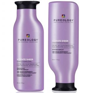 Pureology Hydrate Sheer Shampoo conditioner 266ml duo bundle offer