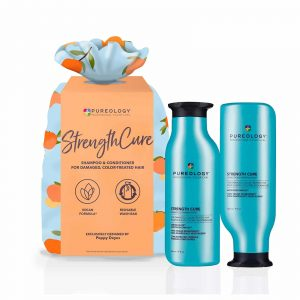 Pureology strength cure christmas gift set 2021 with 266ml shampoo and conditioner