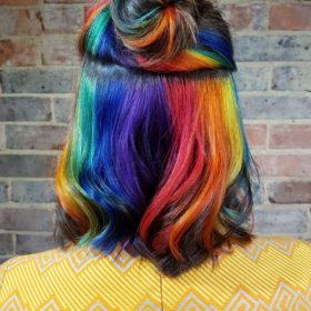 Hidden rainbow hair brighton